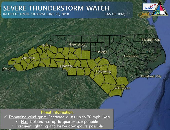 DgjeyqPXkAEALPL?format=jpg&name=small Severe Thunderstorm Watch In Effect In Charlotte: Forecast