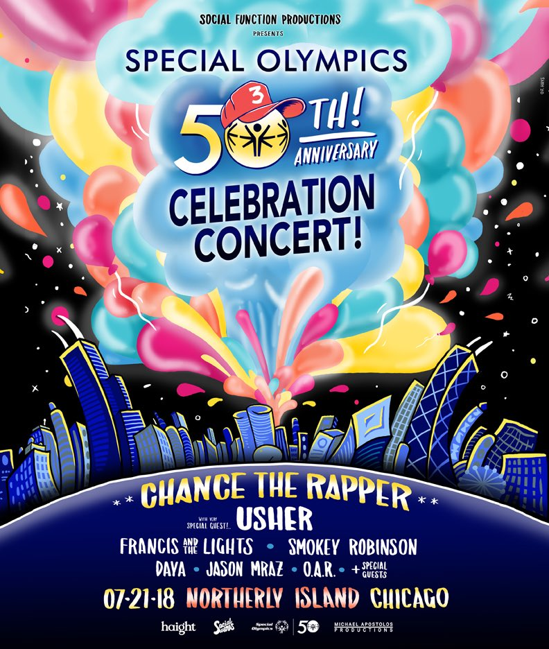 Resultado de imagen para CHANCE THE RAPPER CELEBRATION CONCERT