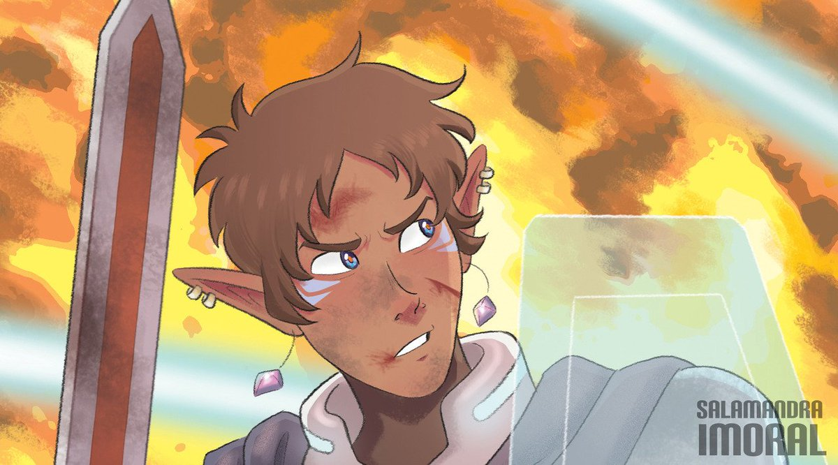 Preview of my piece for the @alteanlancezine! Preorders are open, go check it out! :DD