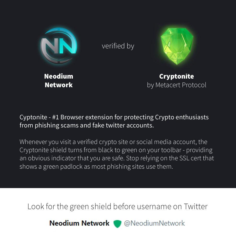 Neodium network on twitter: