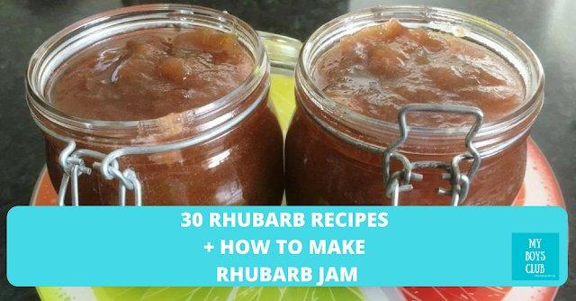30 Rhubarb Recipes + How to make Rhubarb Jam https://t.co/wgNwXTiUzS #food #recipe #Rhubarb https://t.co/VfcsJ8sWzT