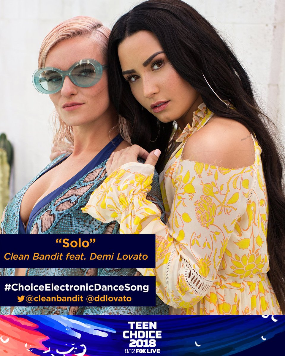 I got three more Teen Choice Nominations! RT this to vote for me or tweet 'My #TeenChoice for #ChoiceElectronicDanceSong is Solo @cleanbandit @ddlovato""