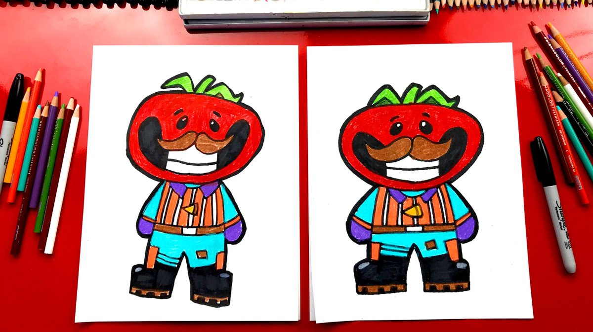 Art For Kids Hub On Twitter Learn How To Draw Tomato Head