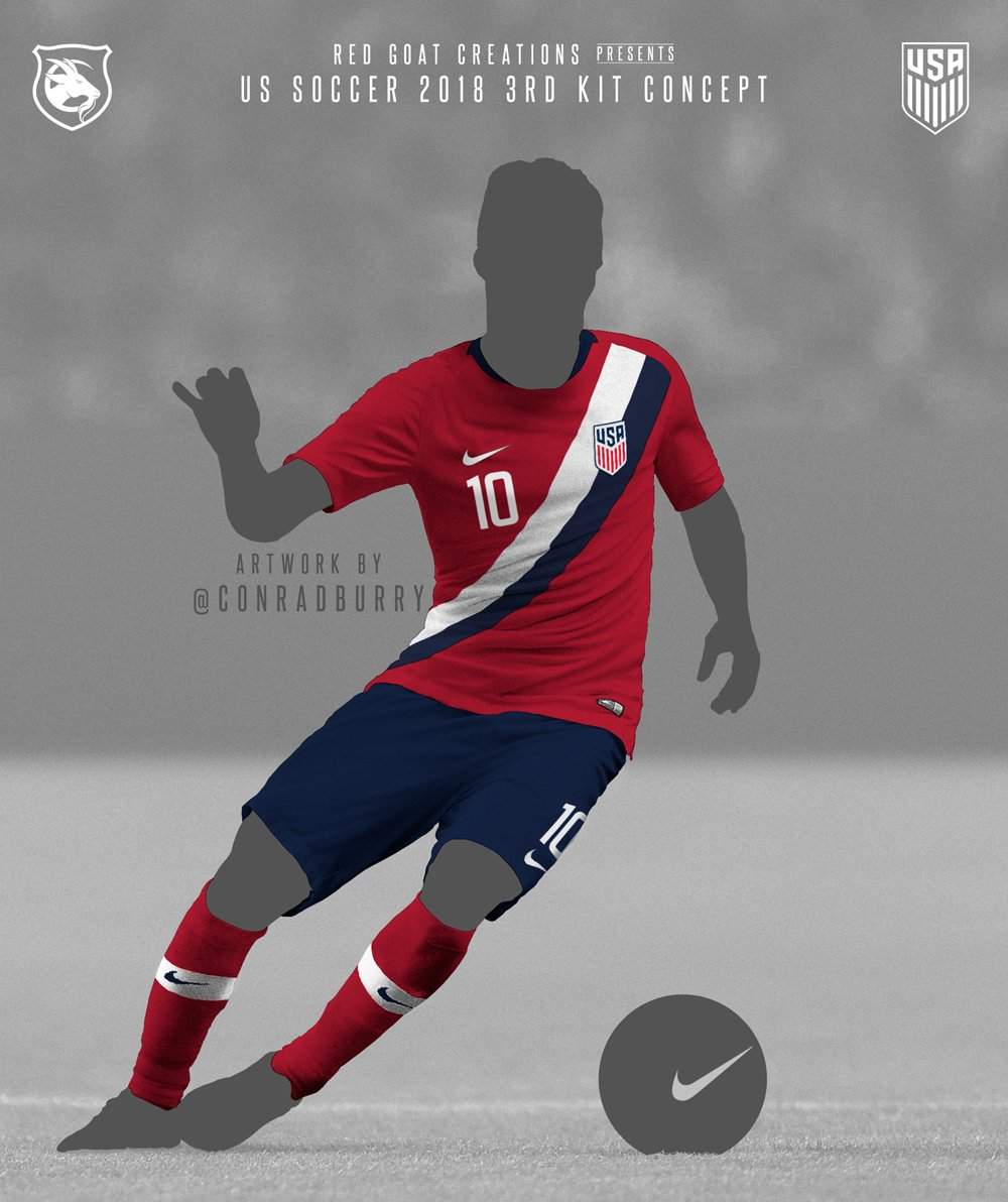 786219695c2 ... it in with some U.S. Soccer kit concepts. Would have been nice to see  something like these for our recent new kits.  Thoughts pic.twitter.com xlECowmACP