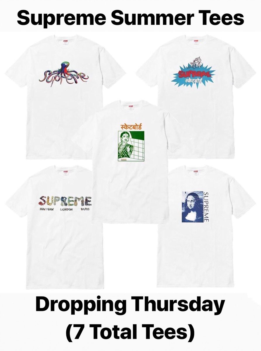 cbb075904 A total of 7 Total Tees (Rick Either Canceled Or Will Drop Week 1 Of FW18).  Retails Range From $36-44 And Will Drop In 7-9 Different Colorways!