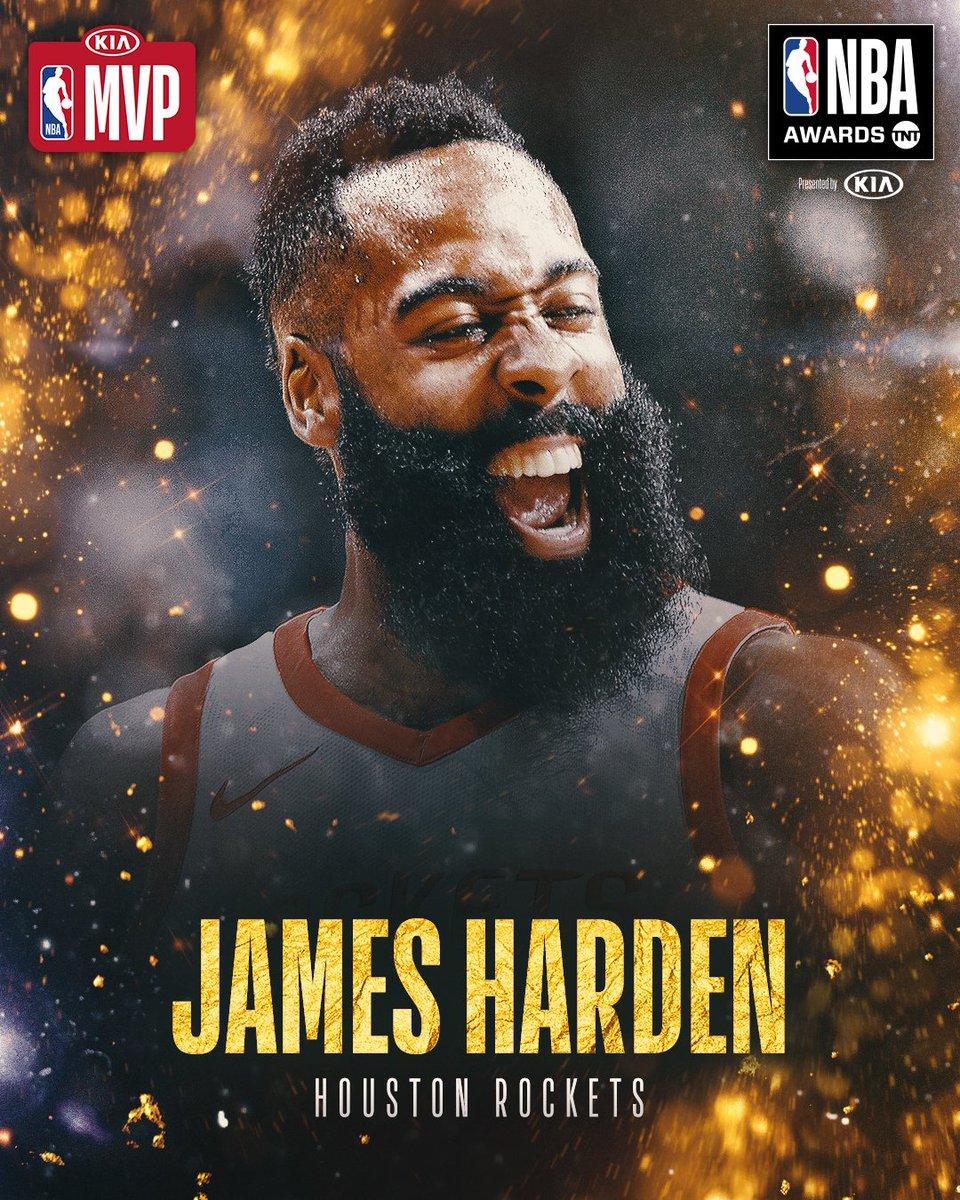 The 2017-2018 #KiaMVP is… @JHarden13! #NBAAwards