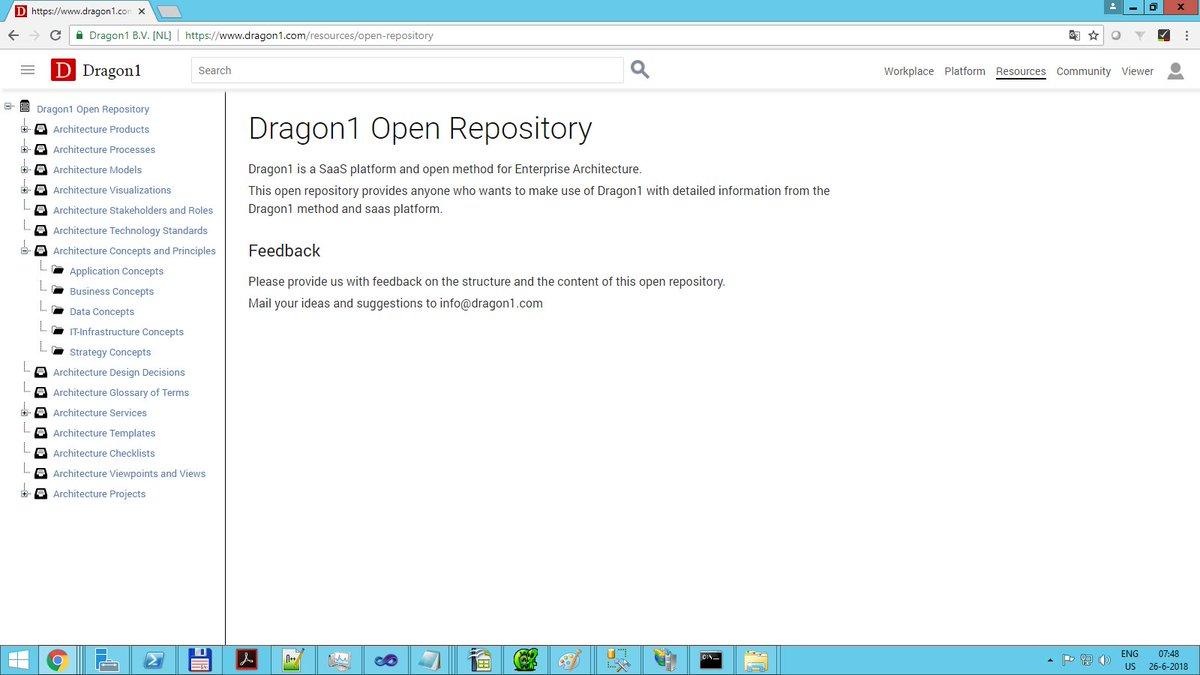 Dragon1, SaaS Platform for Enterprise Architecture on Twitter: