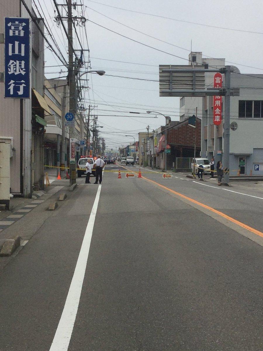 富山市奥田町で発砲事件の現場の画像