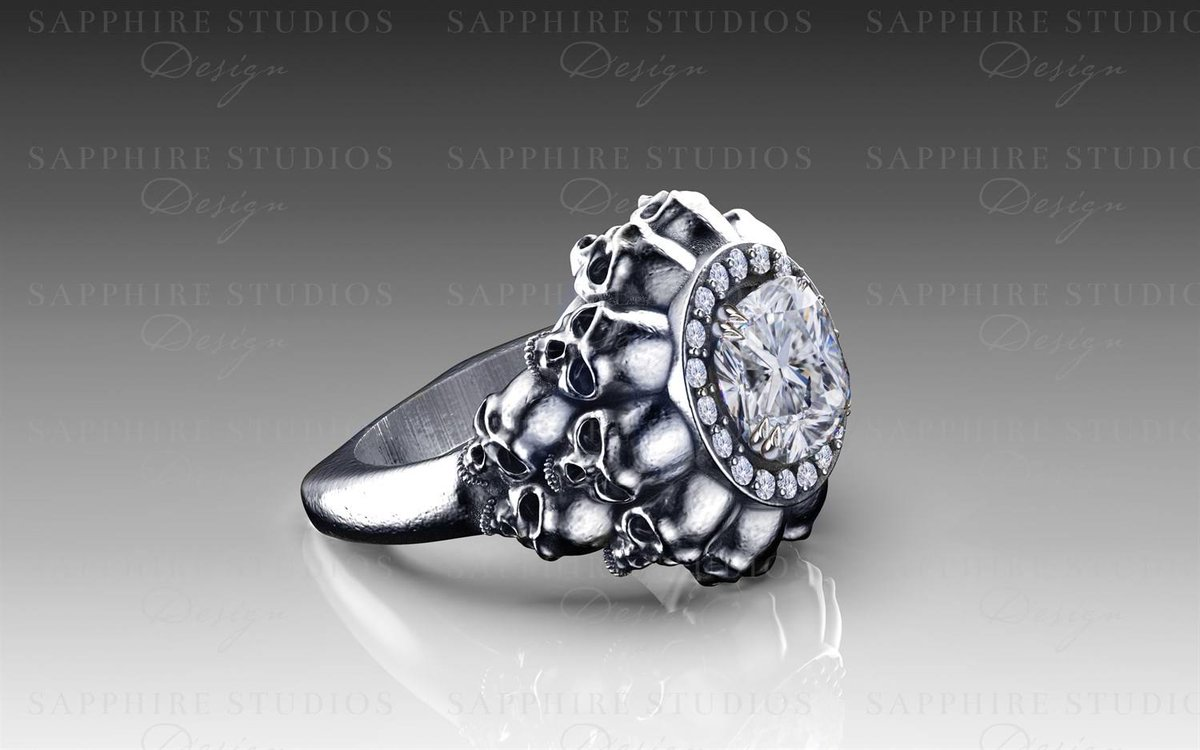 Sapphire Studios On Twitter Empress 18k White Gold Multi Skull Ring View The Collection Https T Co Lh3nydxpu6 Skulls Skullart Skullring Gothic Goth Gothicfashion Mygothicwedding Sapphirestudios Sapphirestudiosdesign Https T Co,Back Side Lehenga Blouse Designs Catalogue 2020