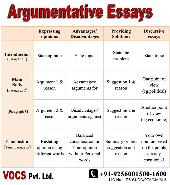 argumentative essay vocabulary words