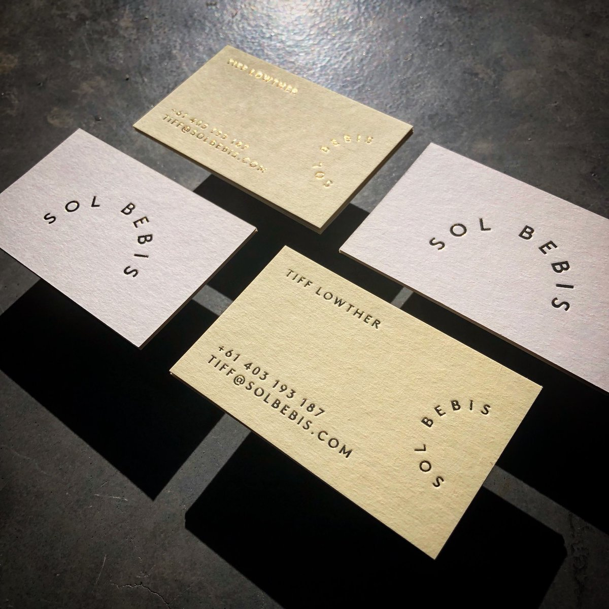 Taylord press on twitter sol bebis business cards spot colour spot colour offset printed gold foiled on beer matt board 390gsm card designed by emilygillis businesscards solbebis offsetprinting offset colourmoves