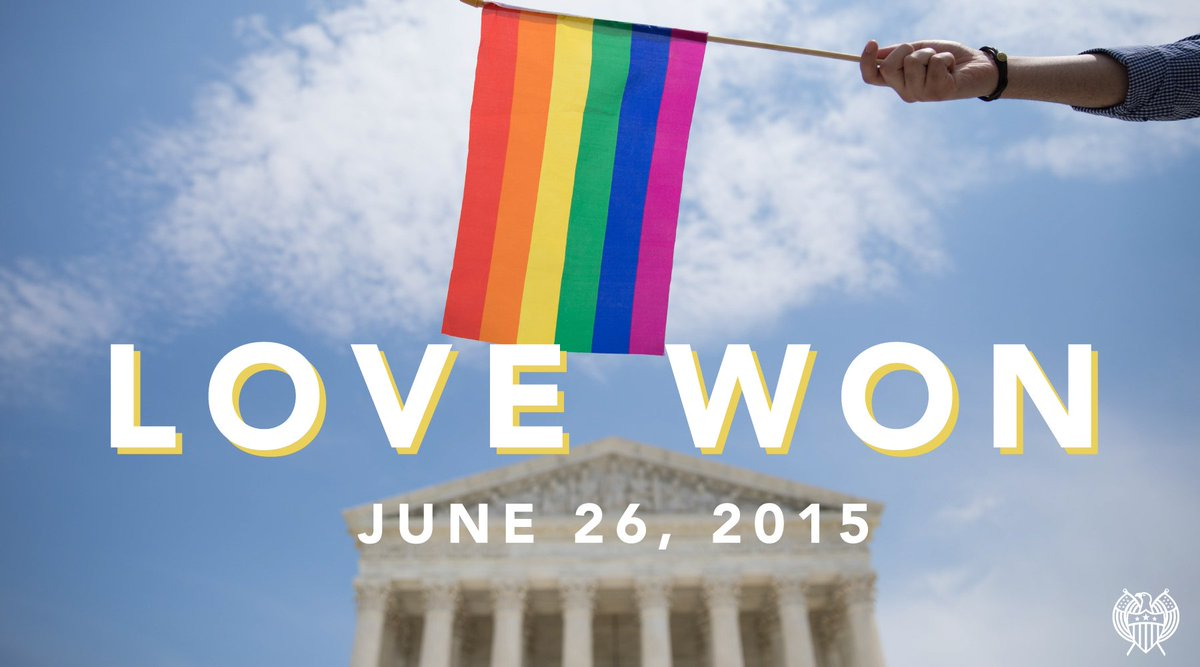Three years ago today #MarriageEquality became the law of the land. #LoveIsLove