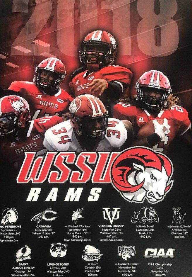 Wssu Rams Football On Twitter We Re Ready The 2018 Season Is