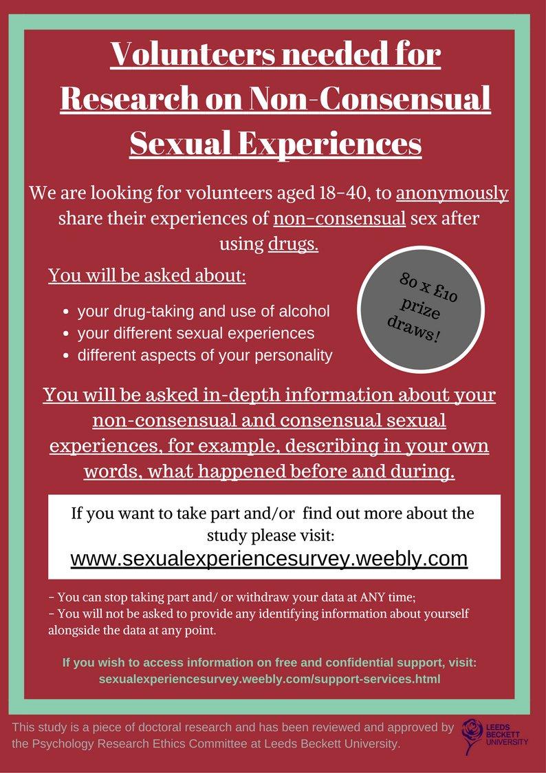 Sex research volunteers needed