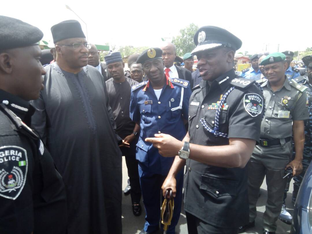 Photos:Minister of Interior, Lieutenant.- Gen Abdulrahman Danbazau arrives Jos