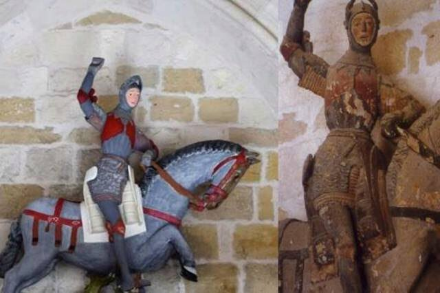 A Botched Statue Restoration in Spain: Is That St. George or Tintin?