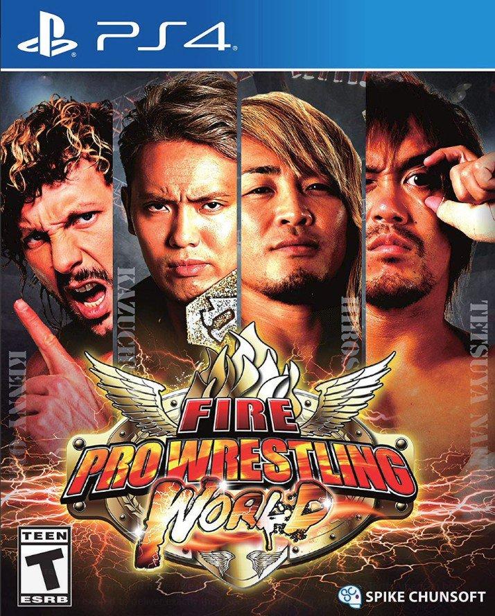 Fire Pro Wrestling World PS4 cover. https://t.co/4hqU61it7T