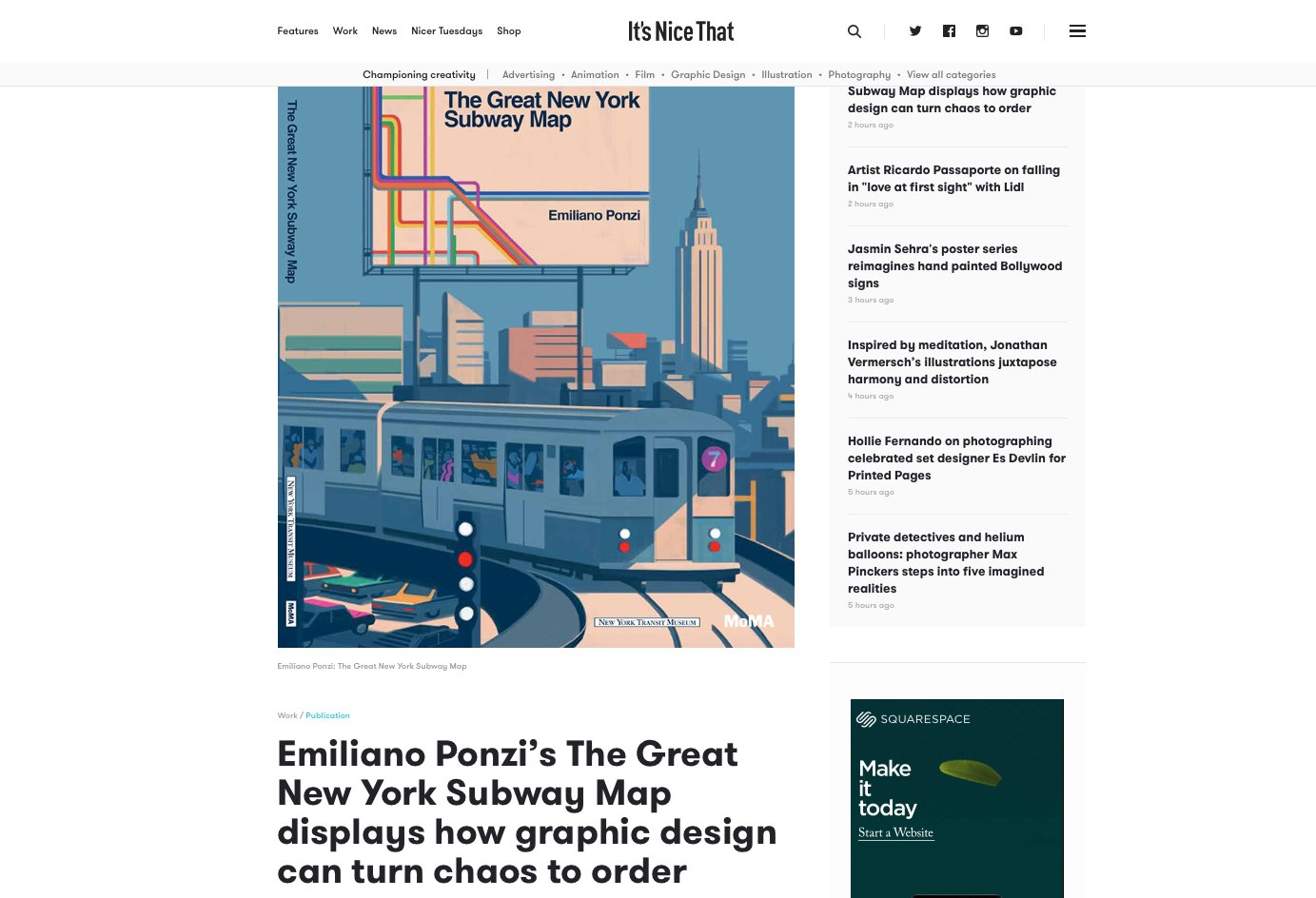 Emiliano Ponzi On Twitter Q A About Thegreatnewyorksubwaymap On Itsnicethat Thanks For The Interview To Emmalathamphillips Https T Co Wkha2eqqrn Https T Co Fdghbey45v