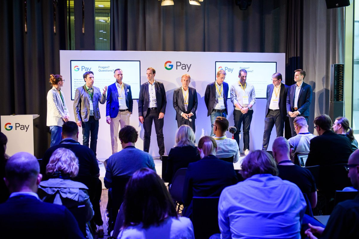 Wir freuen uns sehr über den Start von #GooglePay in Deutschland. Ein großes Dankeschön geht hierfür an unsere Partner @commerzbank, @comdirect, @n26, @wirecard, @Visa_DE und @MastercardDE!