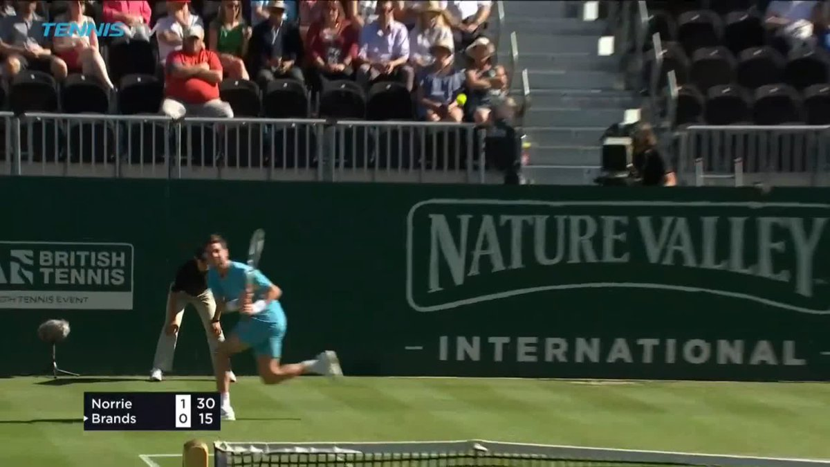 Target: 🔒 Target: 🎯 What a lob by @cam_norrie...👏 #NatureValleyInternational