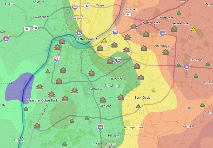 Around 15,000 power outages reported in Jefferson County, KY @WHAS11