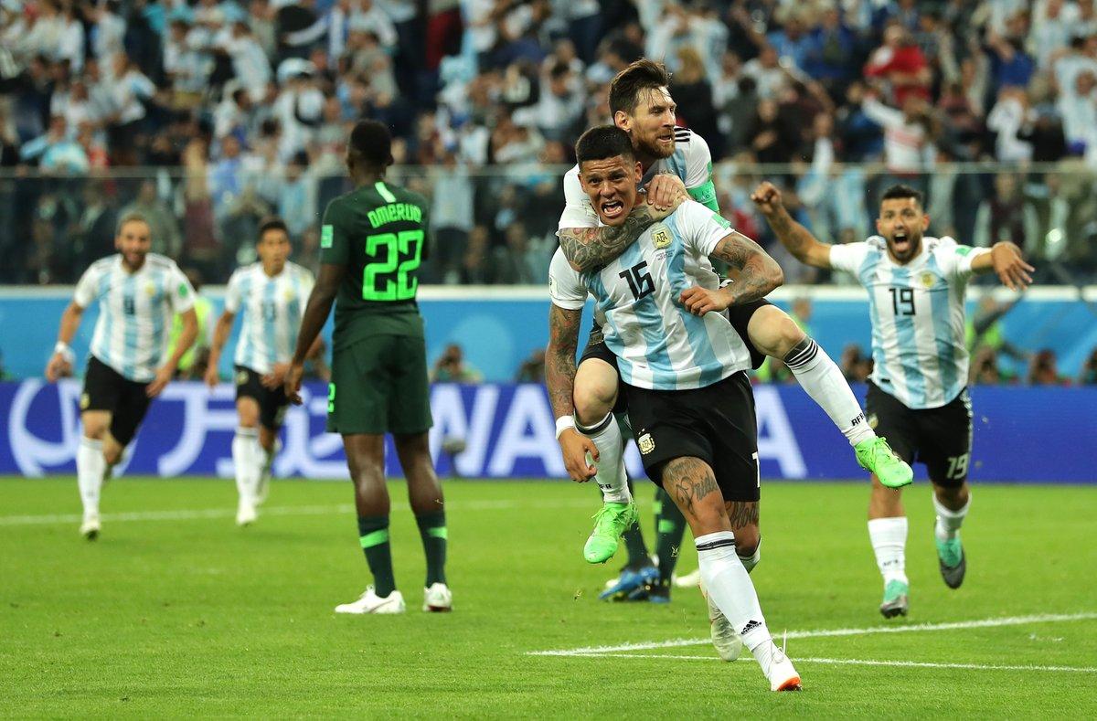 Marcos Rojo clasificó a Argentina