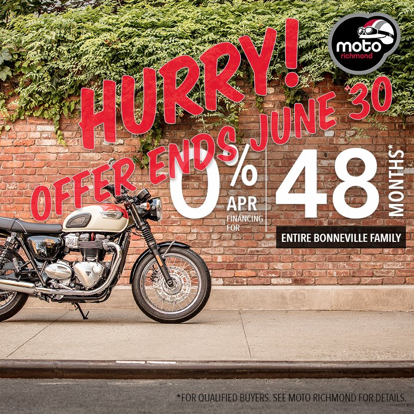 Moto Richmond On Twitter 0 Financing Available On All Triumph