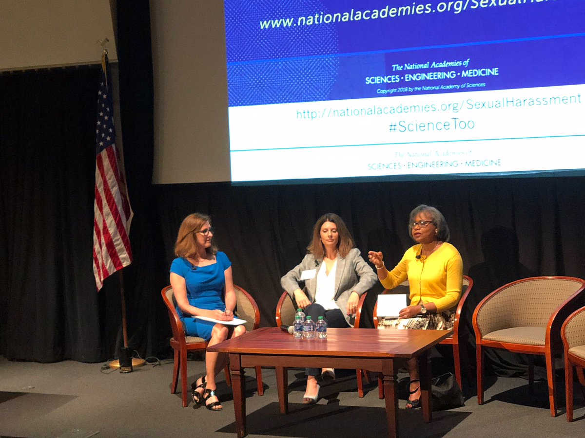 The second panel discussion on our Sexual Harassment of Women in Academia report has begun! Join Anita Hill of @BrandeisU, @asmMelendez, California State Assemblywoman, and Valerie Conn of @SciPhilOrg as moderator: https://t.co/OKTYhdEG8K #ScienceToo