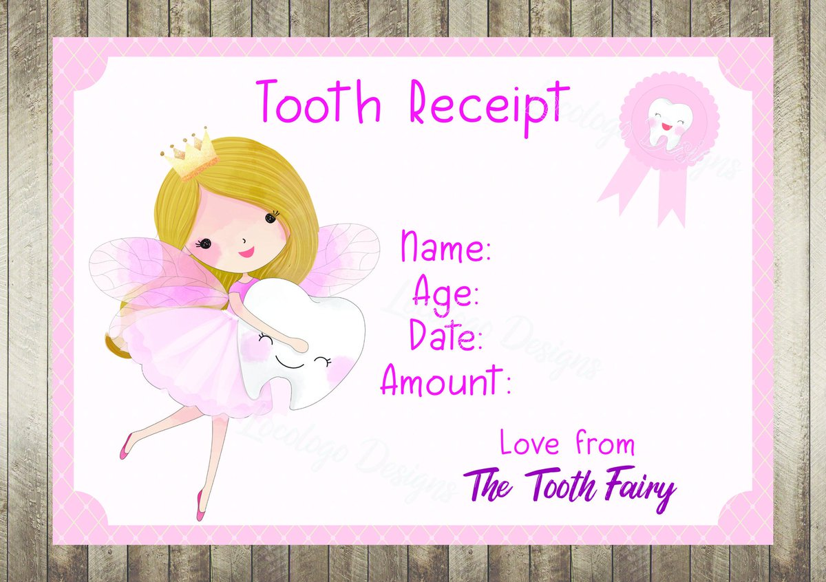 picture regarding Printable Tooth Fairy Certificate titled printablereceipt hashtag upon Twitter