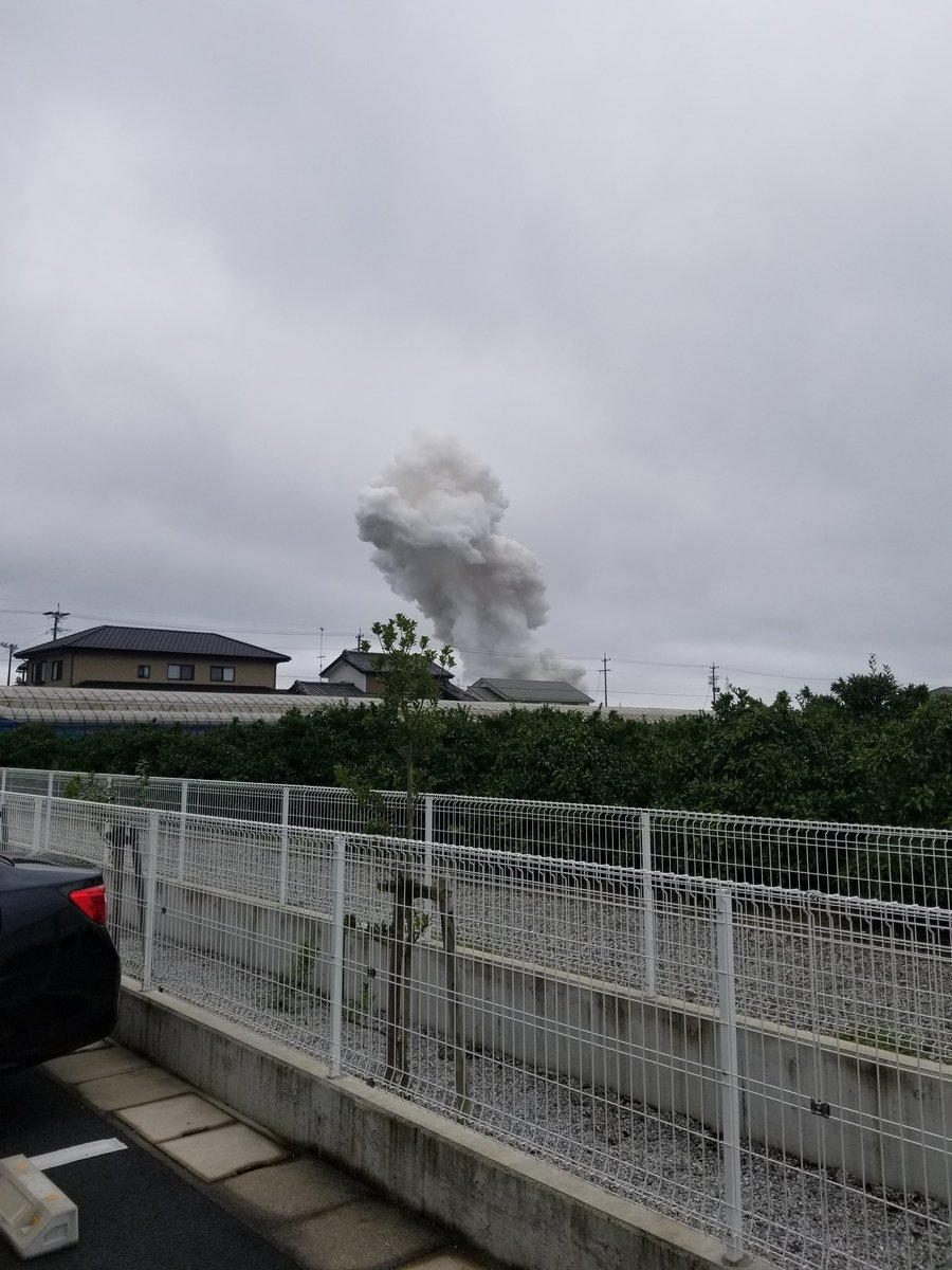 浜松市北区細江町の花火工場で爆発火災の画像