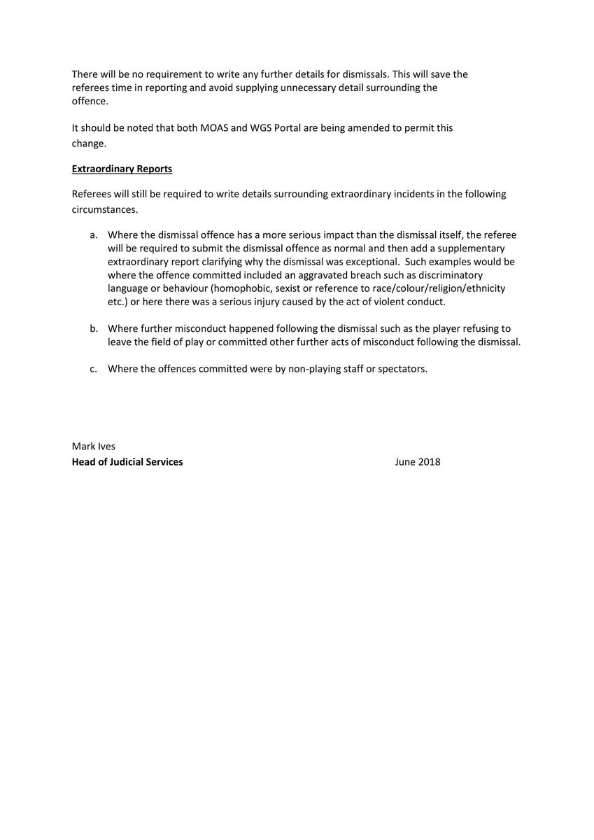 North Riding Fa On Twitter Fa Discipline Update For The 2018