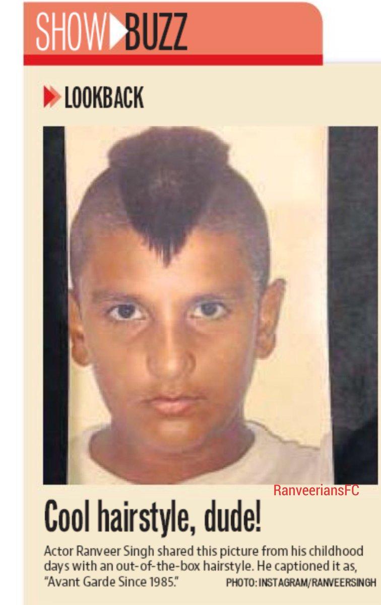 Ranveerians Worldwide On Twitter Print Look Back Cool Hairstyle