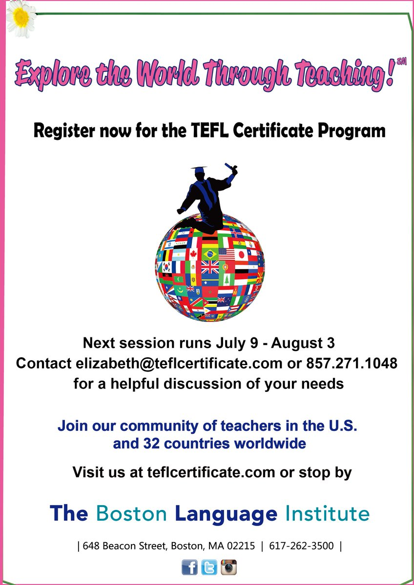 Excelente TEFL Certificación Boston Festooning - Para la aplicación ...