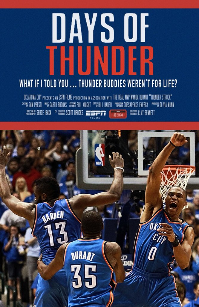 """""""What if I told you... Thunder buddies weren't for life?"""" Maybe some day... #30for30"""