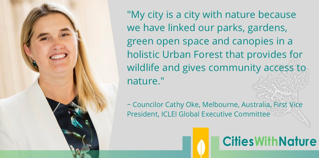 #Melbourne #Australia is a #city with #nature   Follow @CitiesWNature to see which #cities sign up & commit to becoming #CitiesWithNature! @cathyoke @cityofmelbourne