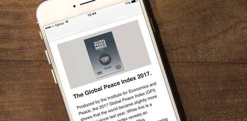 Global Peace Index on Twitter: