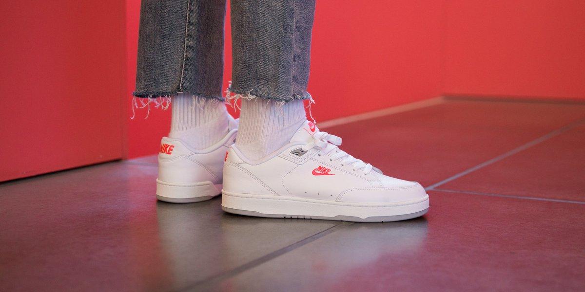 Nike Grandstand II Premium shoes white red