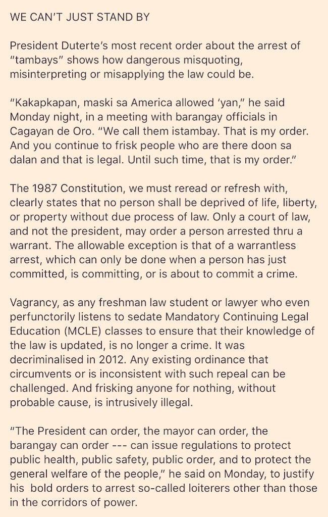 Twitter On Read Lawyers Interest Statement Of Tonyo Public Cruz S5qFEE