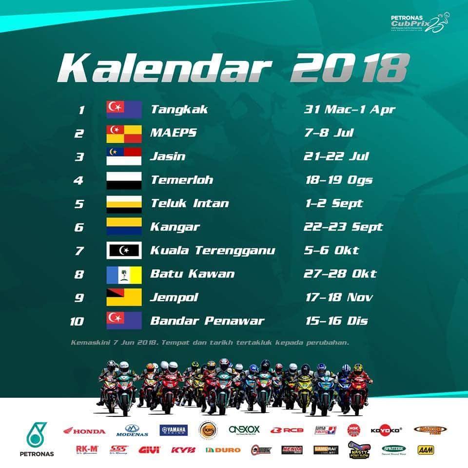 Image result for jadual cub prix 2018