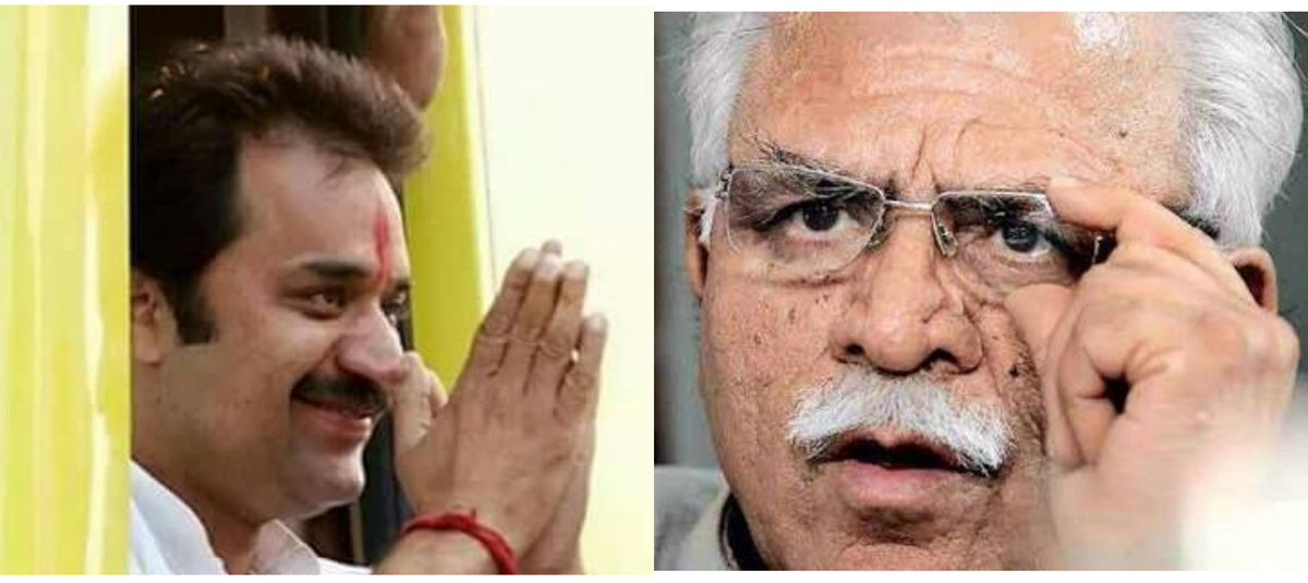 #Exclusive : मुख्यमंत्री मनोहर लाल की कुलदीप बिश्नोई पर की गई टिप्पणी के खिलाफ ट्विटर पर कुलदीप बिश्नोई के समर्थन में उतरे लोग। #JutheKhattar_ImandarKuldeep करता रहा पूरे देश मे ट्रेंड। क्लिक कर पढ़ें पूरी खबर - oneharyana.com/360-2-kuldeep-…