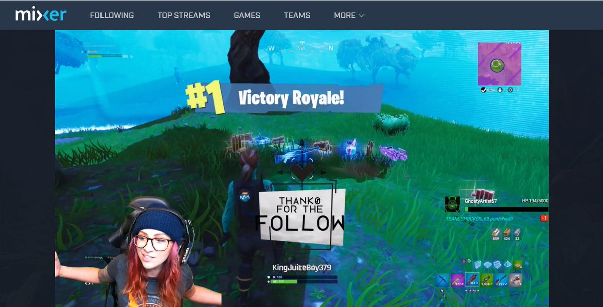 Haven't been able to catch many of these lately, but @BritniCoggin never fails to deliver that SICK #MixerSolos @FortniteGame #VictoryRoyale when I do!  Come check her out on @WatchMixer here: http://mixer.com/Britni