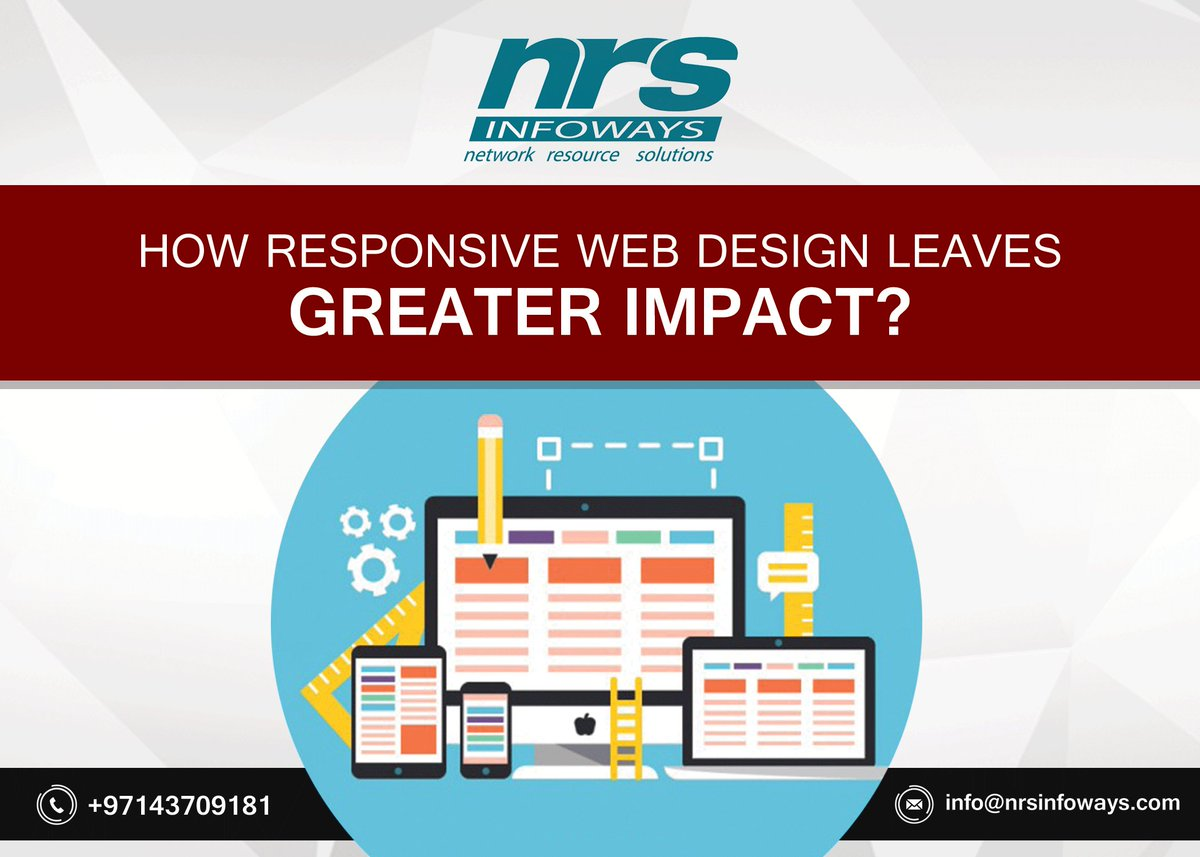 #Responsive #WebDesign is an approach to web design which makes web pages render well on a variety of devices and window or screen sizes. #ResponsiveWebDesign https://bit.ly/2K0tI7X  Call: 971 4 370 91 81pic.twitter.com/gMWz9FabsN