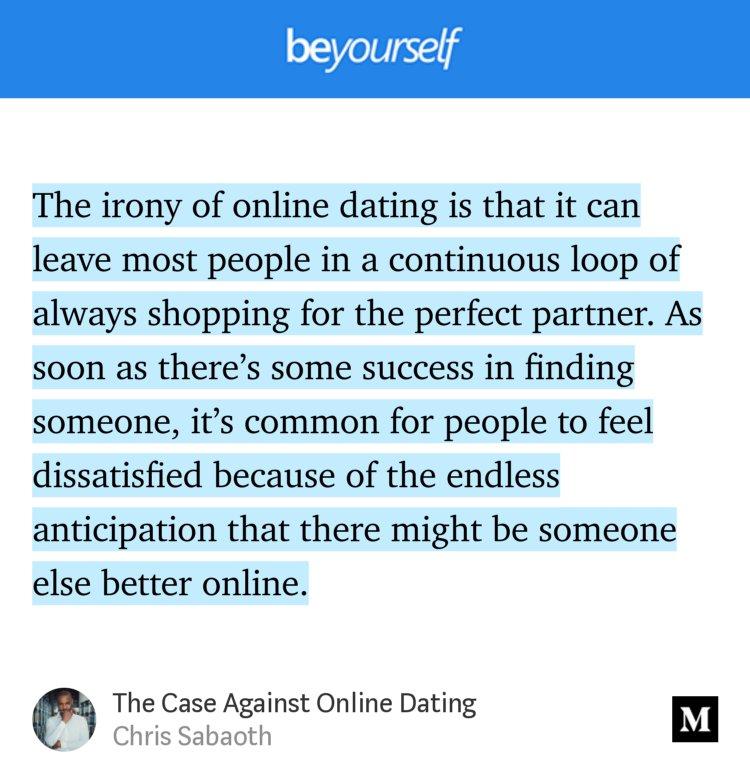 Case against online dating