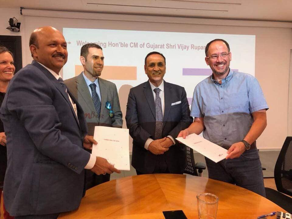 Rupani in Israel: First MoU signed with Mprest for Smart City