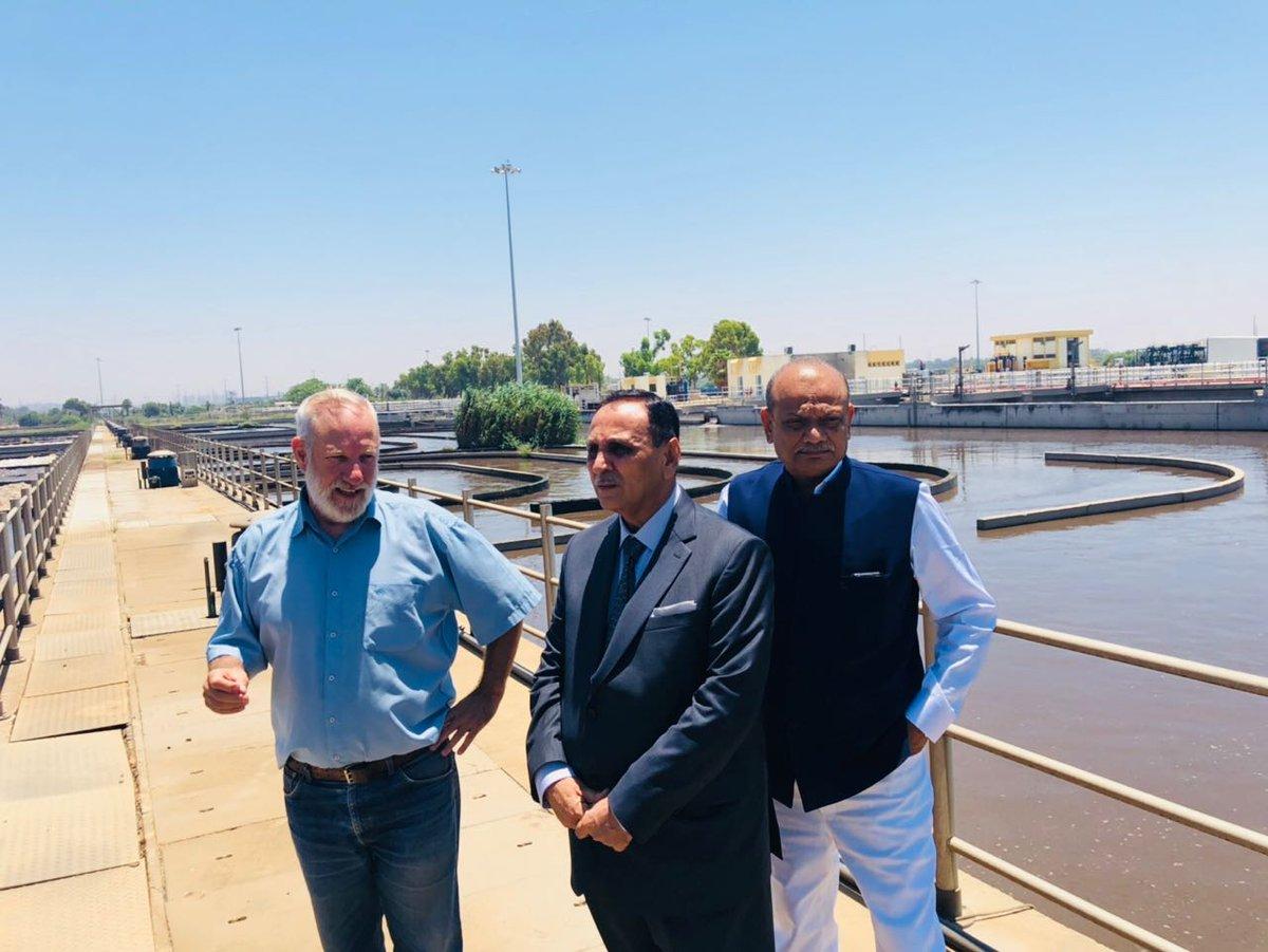 Gujarat CM visits Dan wastewater plant at Shafdan in Israel