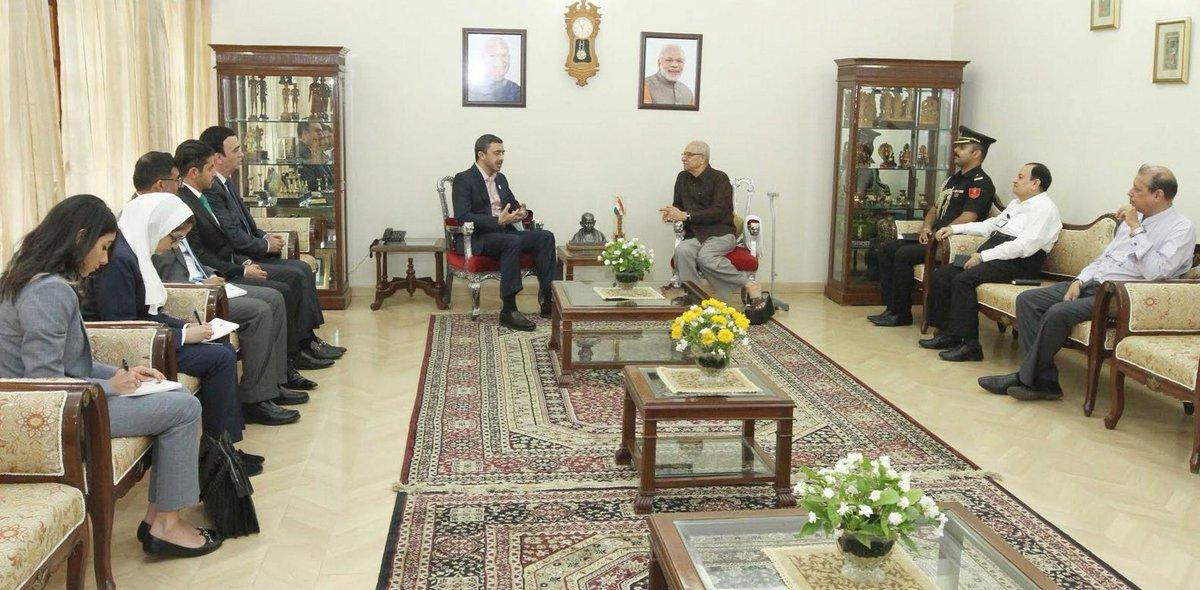 Sheikh Abdullah bin Zayed of UAE on Gujarat visit
