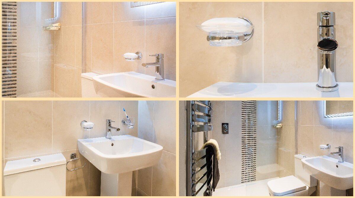 Elegant Wall Tiles And Easily Installed Waterproof Click Flooring Provides A Low Maintenance Room Pisabathroom Haddowbathroom Twitter T9dtsbesm2