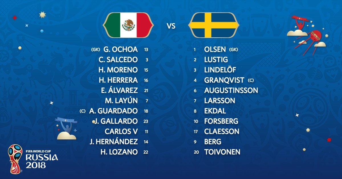 Fifa world cup on twitter team news mexswe mex swe 544 am 27 jun 2018 publicscrutiny Choice Image