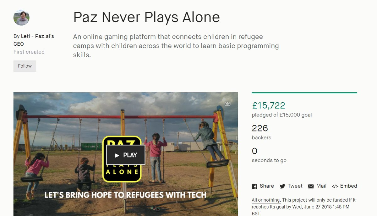 We made it!!!! Thank you so much to the 226 backers, and to everyone else who has been sharing and supporting us!