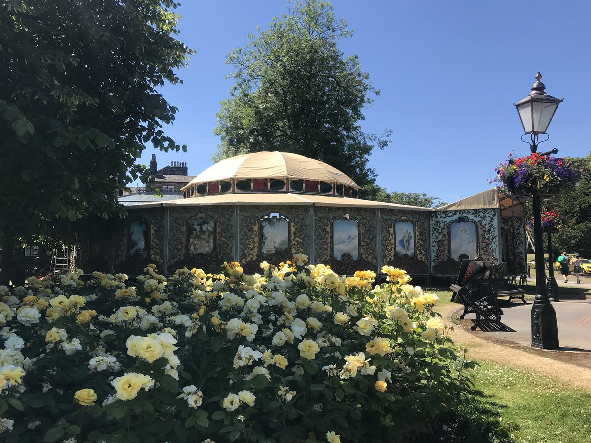 Harrogate festivals on twitter whats that peaking out behind the whats that peaking out behind the beautiful flowers we hear you ask its the spiegeltent of course building is almost complete izmirmasajfo